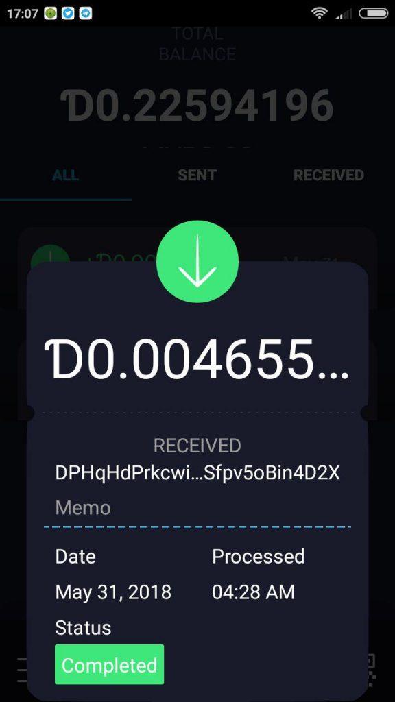 Contoh wallet DGB